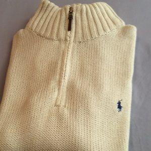 Ralph Lauren Polo 3/4 inch zip up Sweater